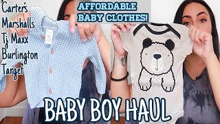 Baby Boy Clothing Haul | Carters, Marshalls, Burlington, & Tj Maxx!!! | Vlog