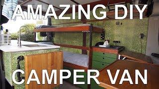 Best Self-Build DIY Camper Van I've Ever Seen Tour