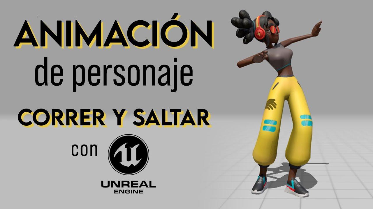 Animación de Personaje para Videojuego 🎮 Correr y Saltar | Tutorial Unreal Engine 4