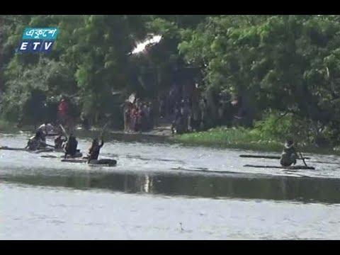 ঝিনাইদহের নবগঙ্গা নদীতে ঐতিহ্যবাহী ডোঙা নৌকা বাইচ