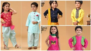 Kids Matching Outfits Idea/ Brother And Sister Matching Outfits/ Kids Ethnic Wear For Girls
