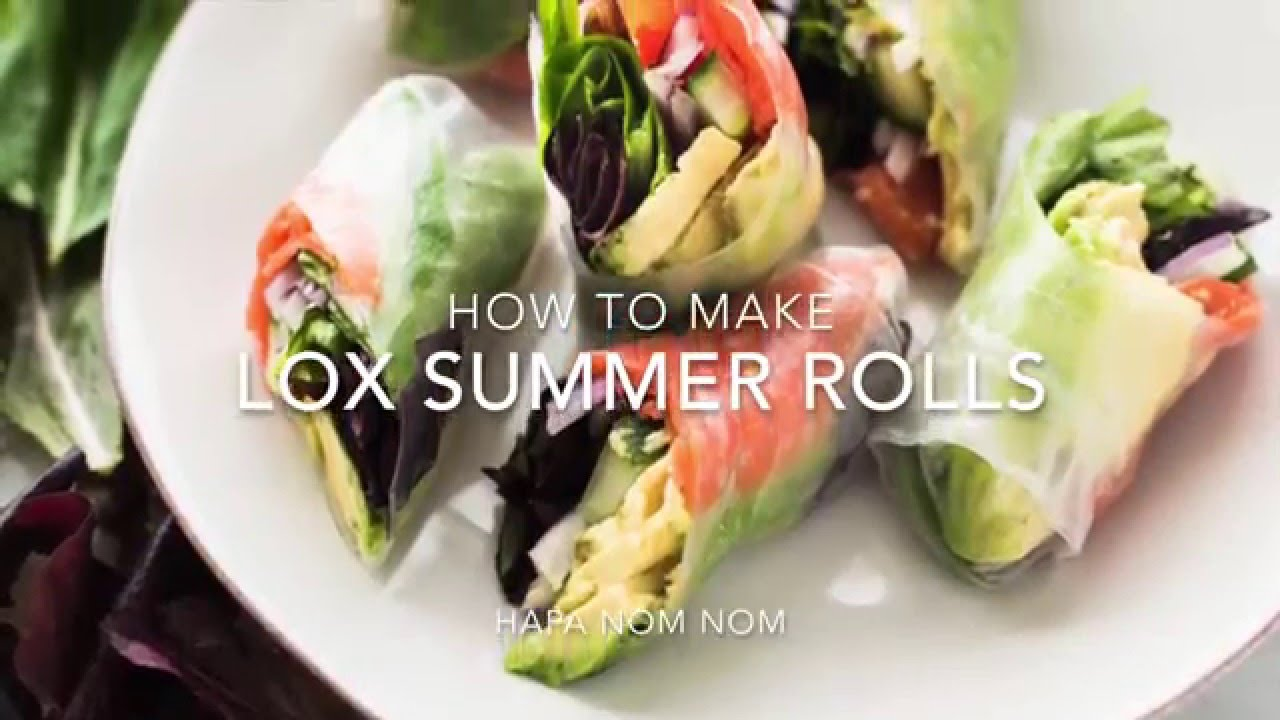 Lox Summer Rolls with Avocado-Lime Dipping Sauce {Video}