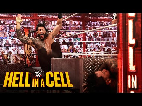 , title : 'Roman Reigns breaks down over brutality to Jey Uso: WWE Hell in a Cell 2020 (WWE Network Exclusive)'