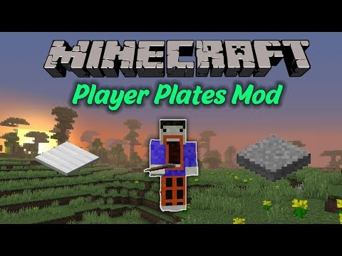 Minecraft: PLAYER PLATES MOD (INVISIBLE PLATES, OBSIDIAN PLATES, AND MANY MORE!) Mod Review