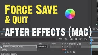 Force Save in After Effects on a Mac (Spinning Wheel of Death)