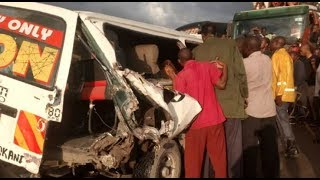 Two people die in Kibarani after a truck rammed into a matatu