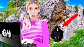 Finding GAME MASTER Top Secret Laptop in Abandoned Cave! (Exploring mystery clues)