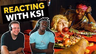 KSI REACTS TO ON POINT REACTION VIDEOS (LOGAN PAUL DISS TRACK)