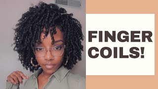 How To | Finger Coils On Natural Hair