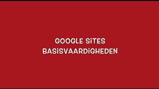 Google Sites basisvaardigheden