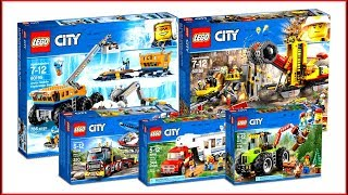 TOP 5 LEGO City Vehicles 2018 - Speed Build For Collectors