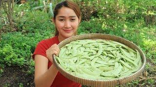 Yummy Hyacinth Bean Shrimp Salad Cooking - Hyacinth Bean Shrimp Salad - Cooking With Sros