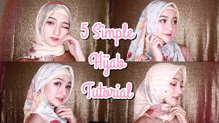 5 Simple Hijab Tutorial Untuk Lebaran | (Segi Empat)