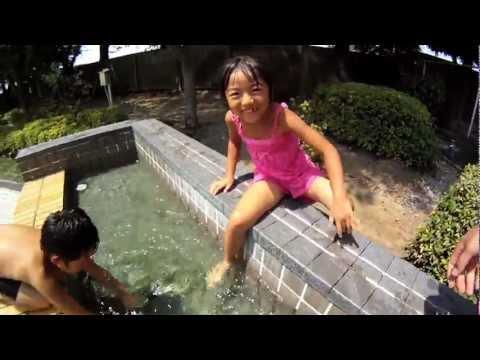 子供たちの水遊びを完全防水カメラGoPro で追う!2011