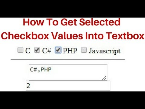 How to get selected checkbox values display into textbox jquery