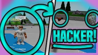 HACKER GLITCHES HACKER!!! DROPPING OFF A HACKER IN PARK! RB WORLD 2