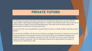 Private Tutors Singapore