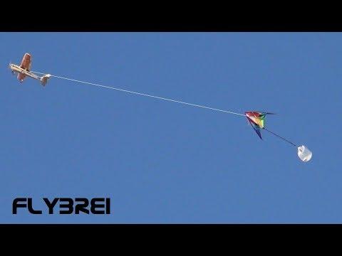👍Der wahre Drachenlord zieht mit RC-Flugzeug einen Drachen. RC Crash???