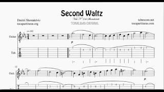 Waltz Nº 2 by Shostakovich Tablature Sheet Music for Guitar Tabs (Fingering)
