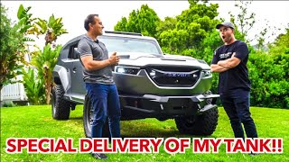 TAKING DELIVERY OF 2020 BULLET PROOF REZVANI TANK MILITARY *REVIEW*