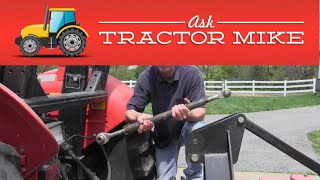 Adjusting the Tractor Top Link to Pull a Brush Hog