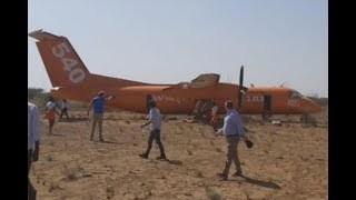 Fly540 plane makes emergency landing - VIDEO