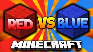 RED vs BLUE!   Minecraft BLOCK WARS #1 with PrestonPlayz & Landon