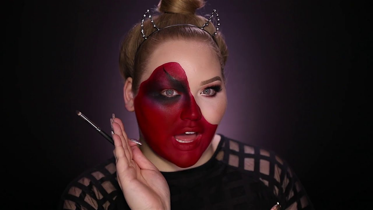 3d illusion makeup deom pulled skin for halloween by nikkie