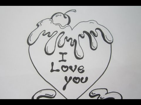 480 x 360 · 21 kB · jpeg, How to Draw I Love You Bubble Letters