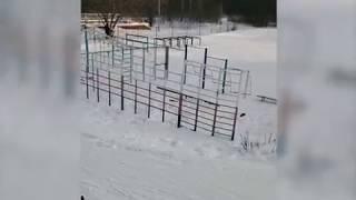 Опасный спуск на стадионе школы №119