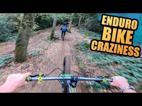 ENDURO BIKE CRAZINESS - MTB TRAILS AND SENDING TRICKS