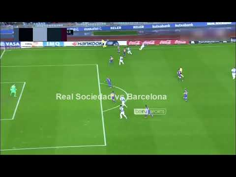 Willian Jose Goal - Real Sociedad vs Barcelona 1-0