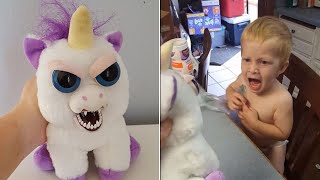 Toddler Freaks Out When Mom Shows Him Evil-Looking Unicorn Toy