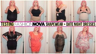 Testing Fashion Nova Curve Shapewear Haul + Date Night Dresses | FEB 2020