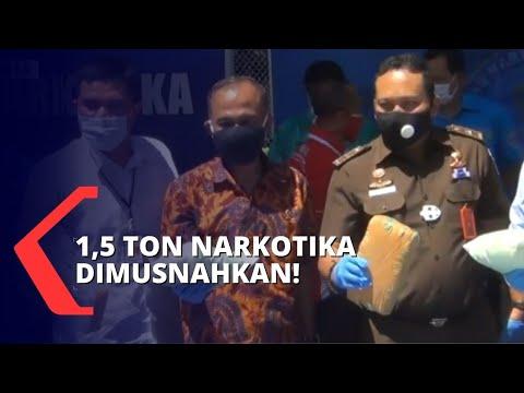 bnn musnahkan ton barang bukti narkoba dari kasus besar di indonesia