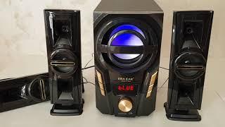 Акустическая система комплект 3.1 Era Ear E-703A (USB/FM-радио/Bluetooth) 60 Вт от компании ТехМагнит - видео