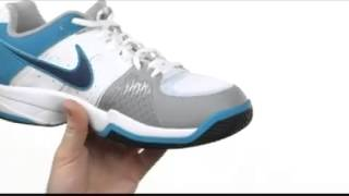 Nike Air Cage Court Men's Tennis Shoe White-Blue Lagoon video