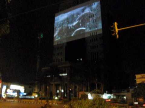 Giant Screen on BRI Tower Bandung