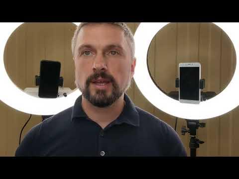 Гибкий держатель LUMO™ для смартфона на кольцевой светодиодной лампе со штативом купить в Киеве (Украине) 356796  2