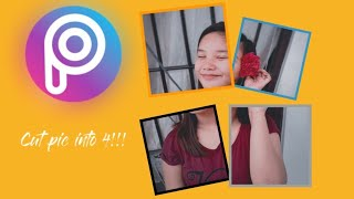 (Tutorial) Picsart | How to cut/grid your picture into 4 pieces