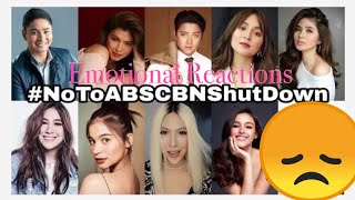 ABS-CBN SIGNS OFF  | KAPAMILYA STAR EMOTIONAL REACTIONS