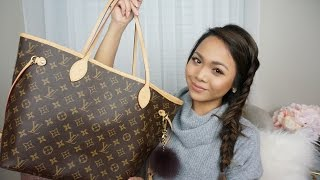 What's In My Travel Bag?   Pack With Me!   LV Neverfull MM Rose Ballerine   Charmaine Dulak