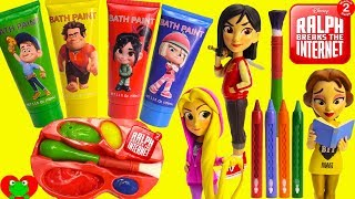 Ralph Breaks the Internet Princesses Play with Paints Learn Colors