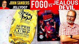 FOGO vs JEALOUS DEVIL HARDWOOD LUMP CHARCOAL COMPARISON | BURN TEST | TIME TEMPERATURE | SHIPPING
