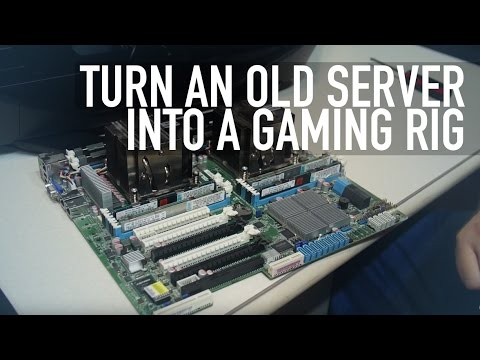 Turn an Old Server Into a Gaming Rig | 16 cores & 64gb ram
