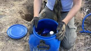 Digging up a Survival - Bug Out - SHTF Cache after 1 year - Coyote Works Desert Bugout Cache