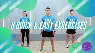 6 QUICK & EFFECTIVE EXCERCISES ✨ GET FIT #49