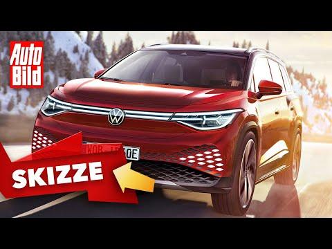 VW ID.6 (2023)   Elektro-SUV im Touareg-Format   Skizze