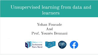 Unsupervised learning from data and learners