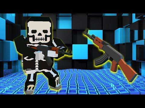 Pixel Grand Battle 3D - AK-47 Review Gun Fan Video